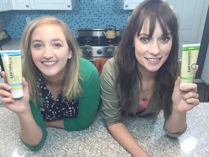 Alexa Rose and Tara Erickson in the Earth Paste commercial