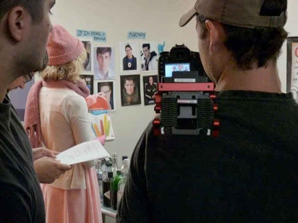 Alexa Rose on the set of Comediva.com's